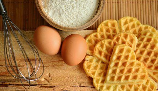 趣味どきっ!カフェスタイル:オスロのカフェ朝食レシピ:ノルウェーワッフルと白インゲン豆のトマト煮